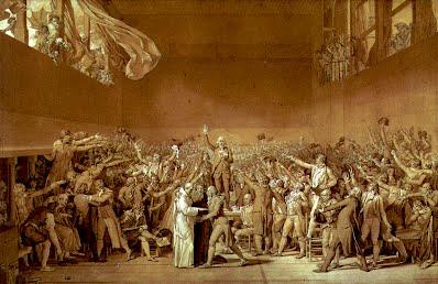 Jacques-Louis David, The Tennis Court Oath [1791]