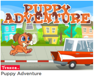 https://www.tynker.com/hour-of-code/puppy-adventure