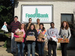 At the Food Bank of Delaware with the donations from our food drive