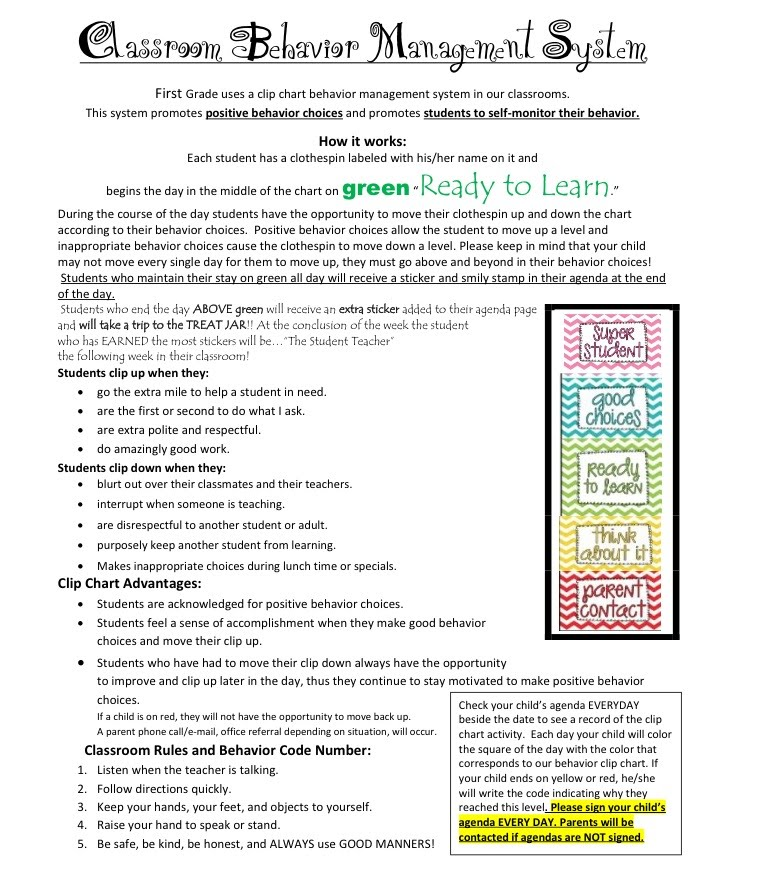 Elementary Classroom Management Plan : Classroom management plan for first grade