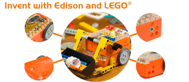 Picture of Edison using Lego