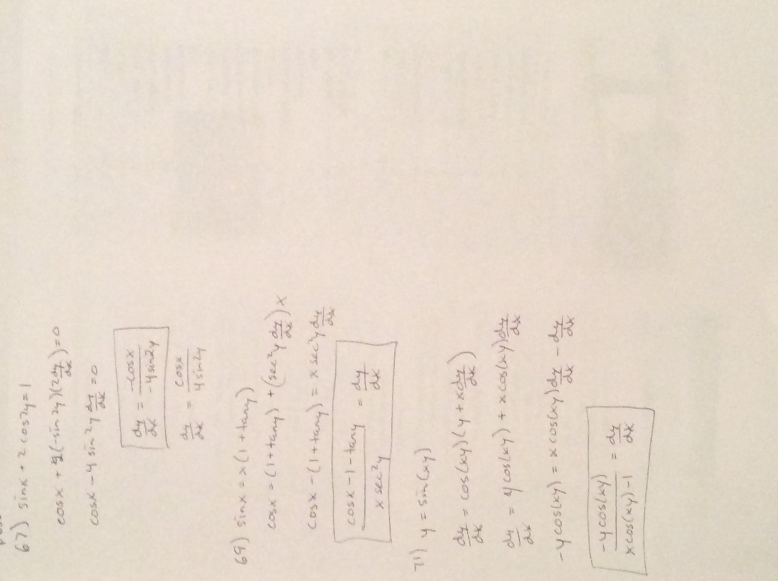 Pre-calc Assignments 2013-2014