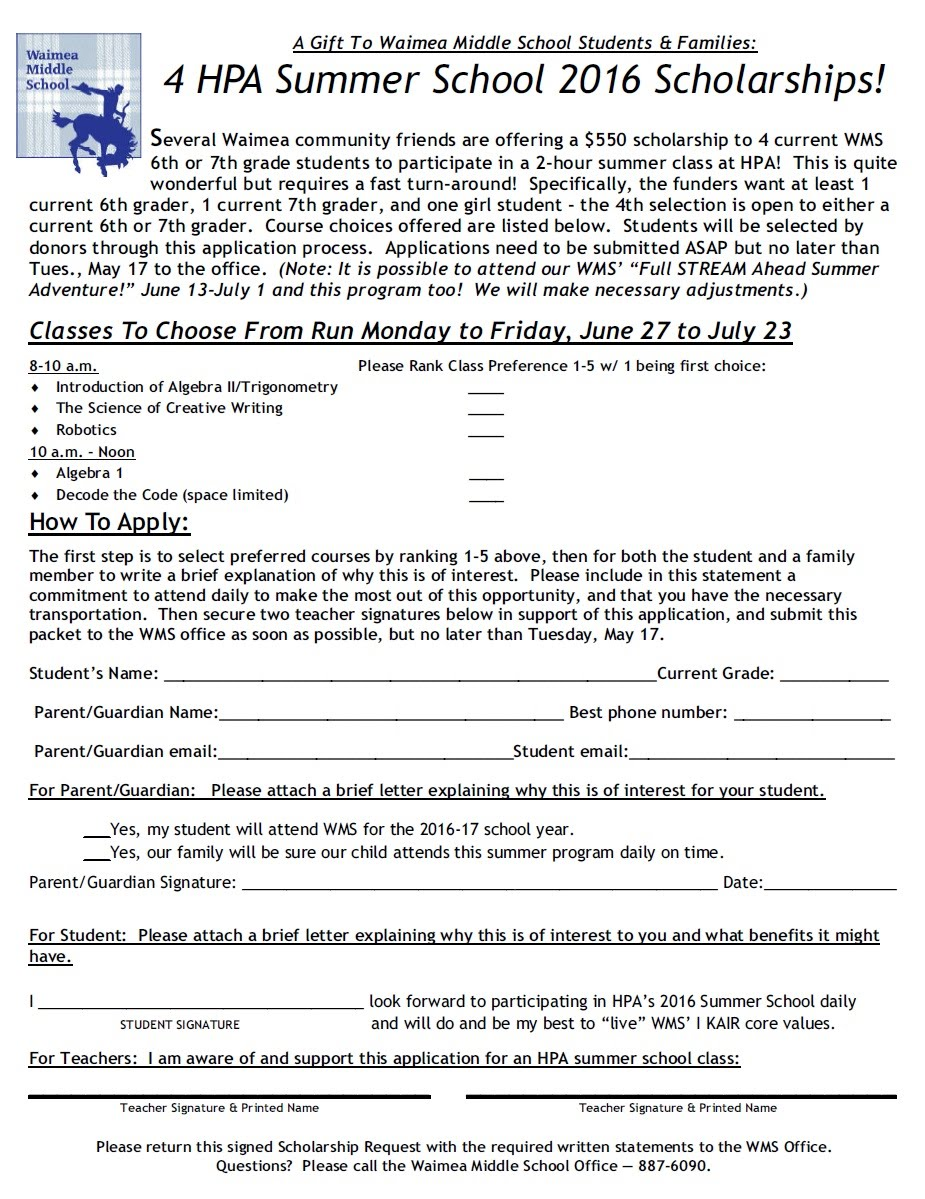 Best Gifts For College Students 2020 Summer Programs   Waimea Middle School
