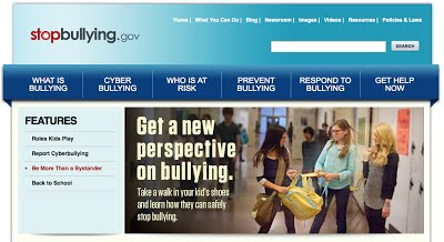 Stop Bullying Now Index Page