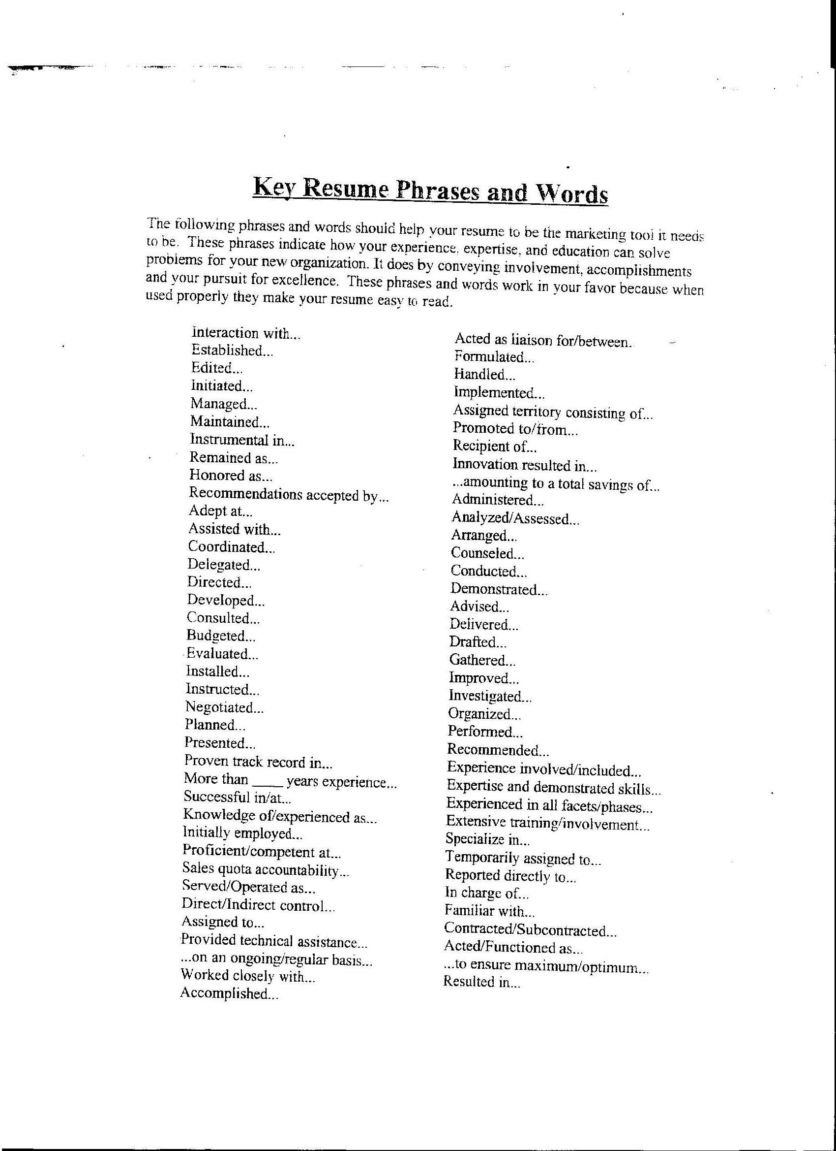 resume Best Words To Use On A Resume cover letter buzz words ninja turtletechrepairs co words