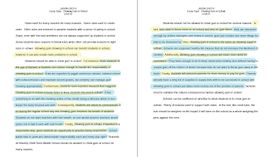 essay level iv png height width  the example above shows what a finished level iii essay would look like when color coded and formatted correctly