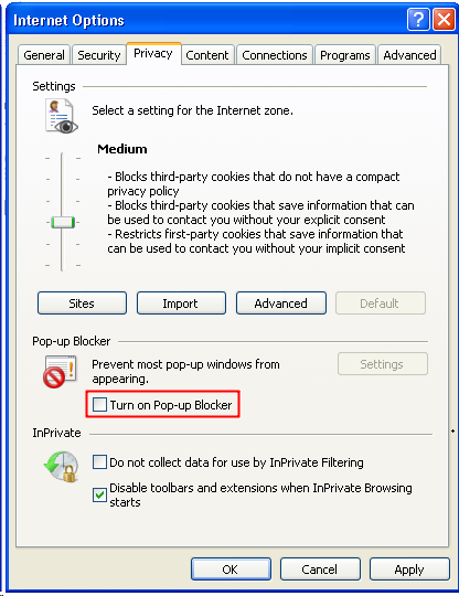 Browser Setting - help