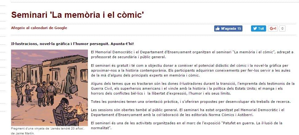 http://memorialdemocratic.gencat.cat/ca/detalls/Activitats_Agenda/Seminari-La-memoria-i-el-comic-00001