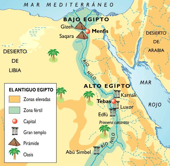 Resultado de imagen de mapa antic egipte