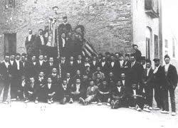 Caramelles a l'Ajuntament, any 1921