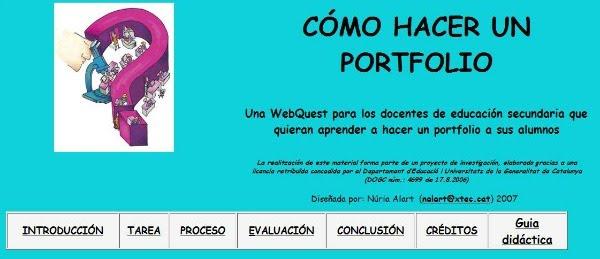 Webquest: com fer un portafoli