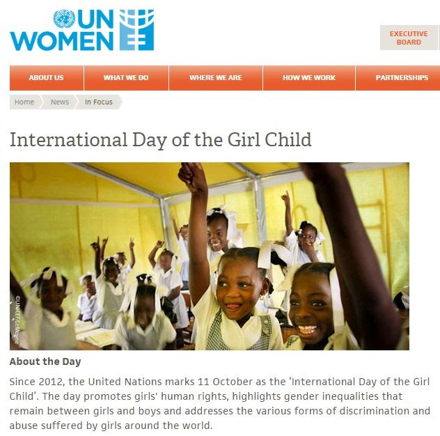 11 Oct: International Day of the Girl Child - Idiomes, English ...