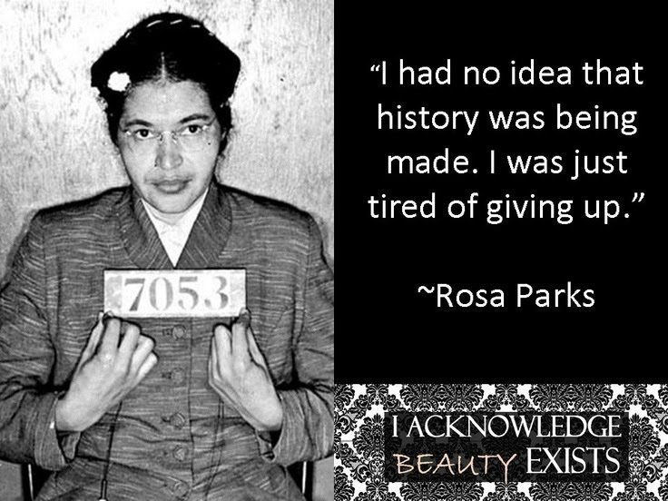 rosa parks an activist essay Rosa parks is an activist, somebody who makes the world a better placeshe was born febuary 4th 1913 born in alabamaher story is that she was told to give her seat up to a white man she then replied no and was arrested.