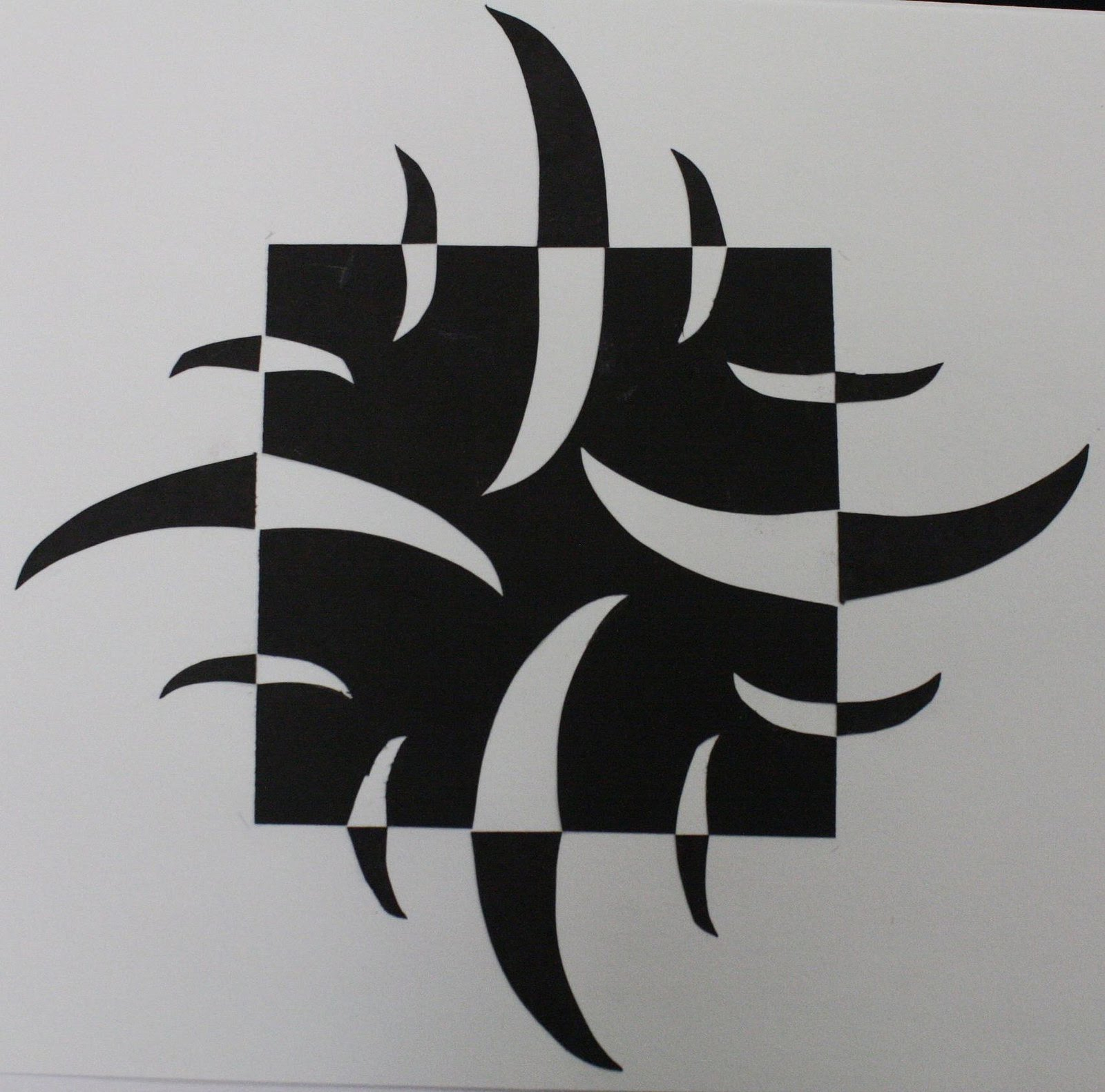 Positive and negative space design for Negative space design