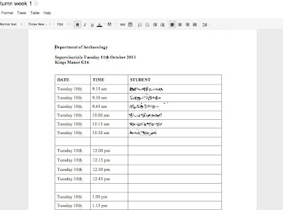 Using documents as sign up sheets collaborative tools Google sites sign in