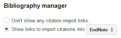 Scholar configuration setting