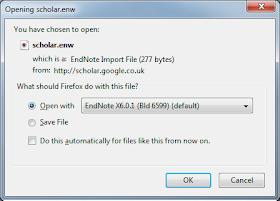 Scholar direct import