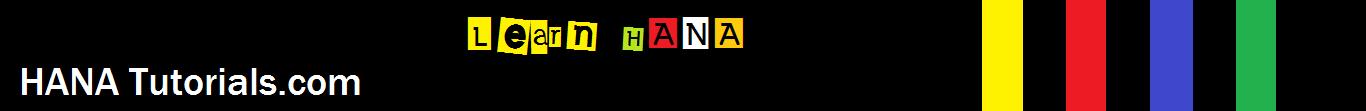 SAP HANA Tutorials