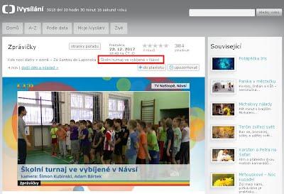 http://www.ceskatelevize.cz/ivysilani/10265744641-zpravicky/217411000161223