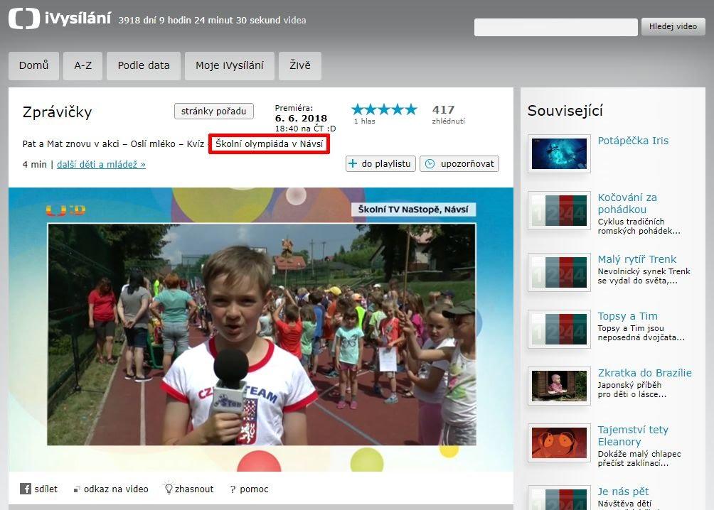 http://www.ceskatelevize.cz/ivysilani/10265744641-zpravicky/218411000160606