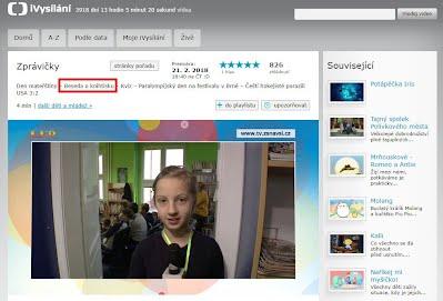 http://www.ceskatelevize.cz/ivysilani/10265744641-zpravicky/218411000160221