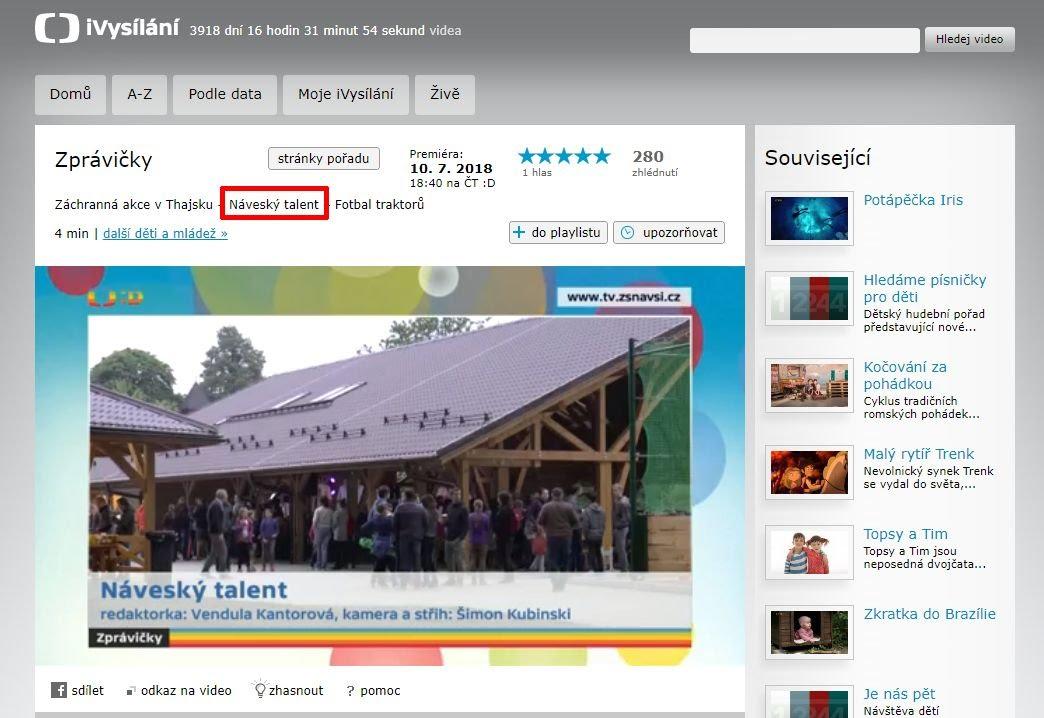 http://www.ceskatelevize.cz/ivysilani/10265744641-zpravicky/218411000160710