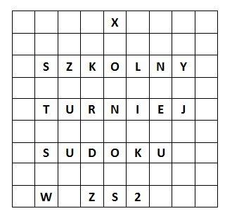 X Szkolnym Turnieju Sudoku Matematyka