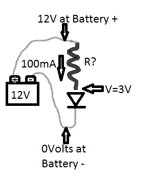 Solve for R to limit the circuit to 100mA