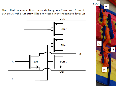 Making the Connections for 1 of the 4, 2 input NOR gates