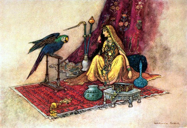 Image result for the story of the husband and the parrot