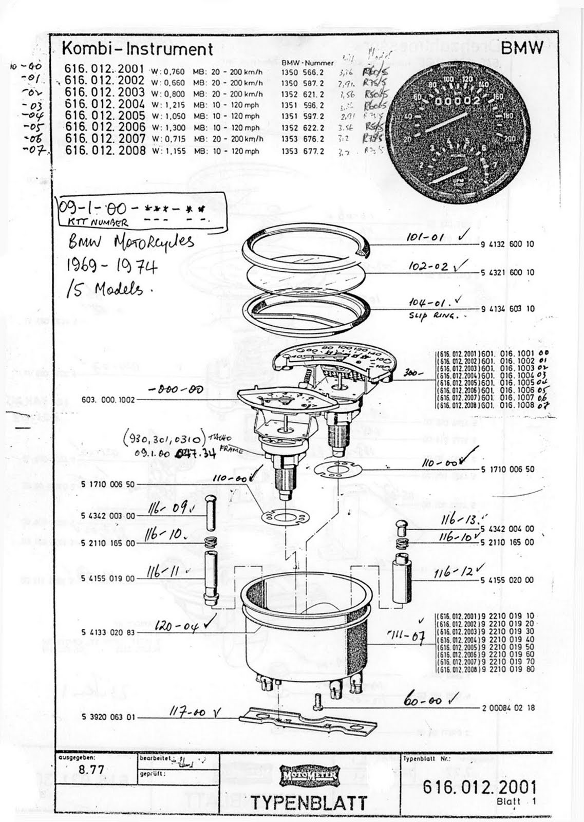 May 2011 1971 Bmw R75 5 Motorcycle Restoration Engine Exploded View 6th