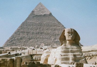 Khufu Pyramid and Sphinx at Giza