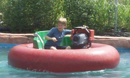 Cody as the water pilot