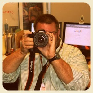 Paul Nelson with a camera