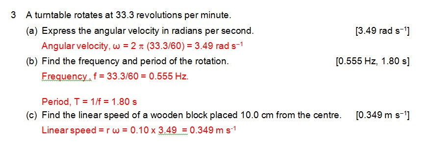 H2 only: Circular Motion tutorial - Physics Worksheets