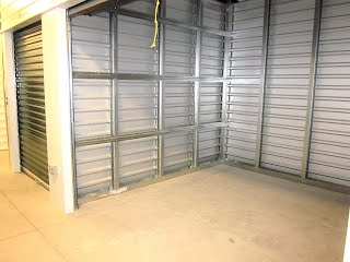 Interior of storage unit