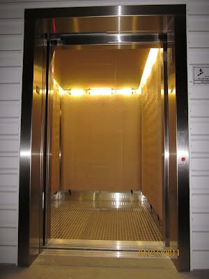 2nd Street's passenger elevator transports you and your things