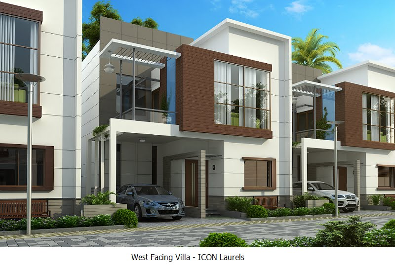West Facing Plan - 3 BHK Duplex Villas