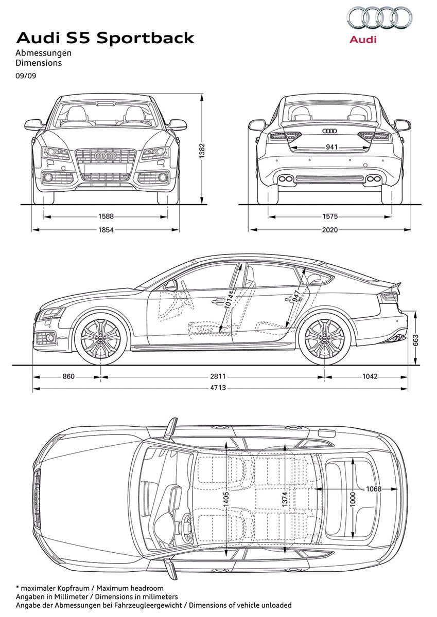 Car Blueprints And Free 3d Models Blueprint Audi S5