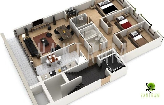 3D Floor Plan Rendering   Benefits Of 3D Floor Plan Designs.
