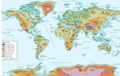 2. THE LAND RELIEF OF THE CONTINENTS - 3º ESO. Geography