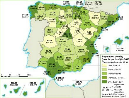 Small Map Of Spain.6 Spain S Population 3º Eso Geography