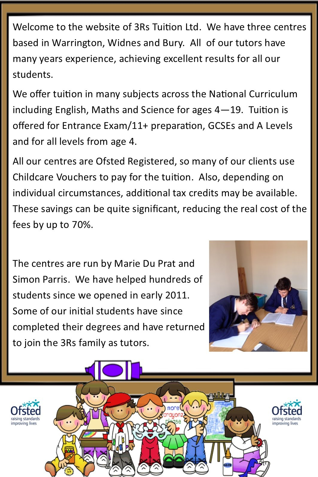 Warrington, Widnes and Bury Tutors - 3Rs Tuition Centre