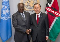 (c) UN Photo/Eskinder Debebe:Secretary General meets President Mwai Kibaki.