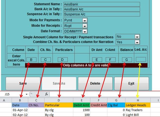 excel to tally bank statement import excel to tally