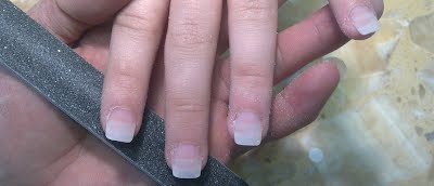 We Fix The Plastic Tips On To Tip Of Your Finger Nails And Then Create A Nail By Coating An Acrylic Or Cal Gel Formula This Serves Strengthen