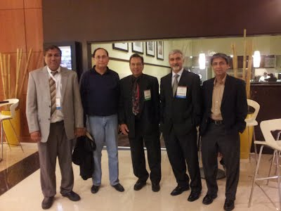 AAPPS Scientists in Chicago ( From Left to Right: Dr. Uwais, DR. Ehtisham Abidi, Dr. Waheed Sheikh, Dr. Umar Hayat, and Dr. Azhar Altaf