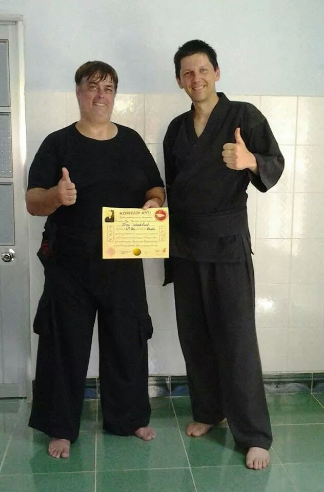 Trey Woodford being awarded Bushi (Shodan - first degree black sash) July 2012
