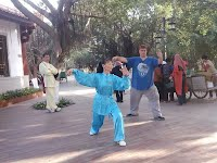 Trey Woodford with Zheng Shifu Tai Chi East Lake Park Quanzhou,  Fujian,  China
