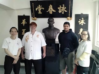 Trey Woodford with Sifu Patrick Leung Hong Kong
